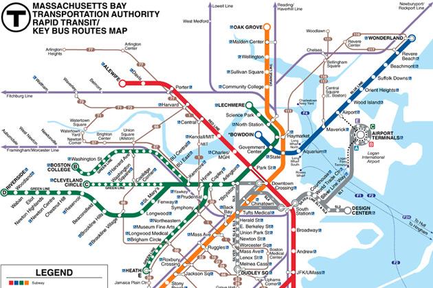 Mbta Subway Map Pdf